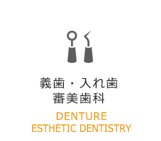 義歯・入れ歯 審美歯科 DENTURE ESTHETIC DENTISTRY